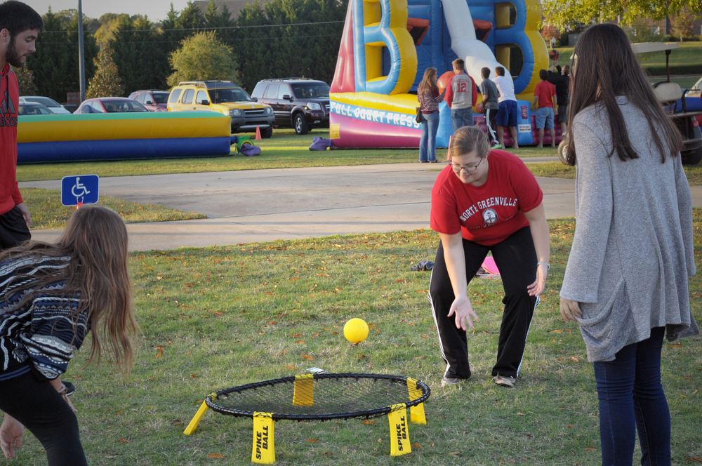 North Greenville students played space ball.
