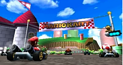 Mario Kart for the DS is shown