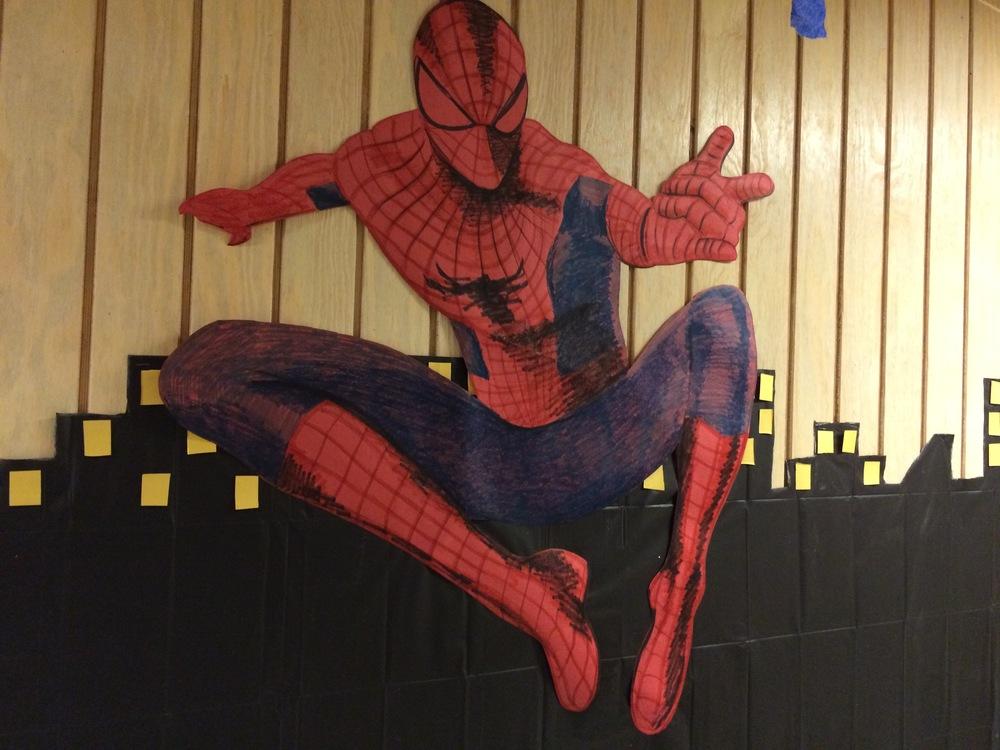 Spiderman hung out at Horton-Tingle.