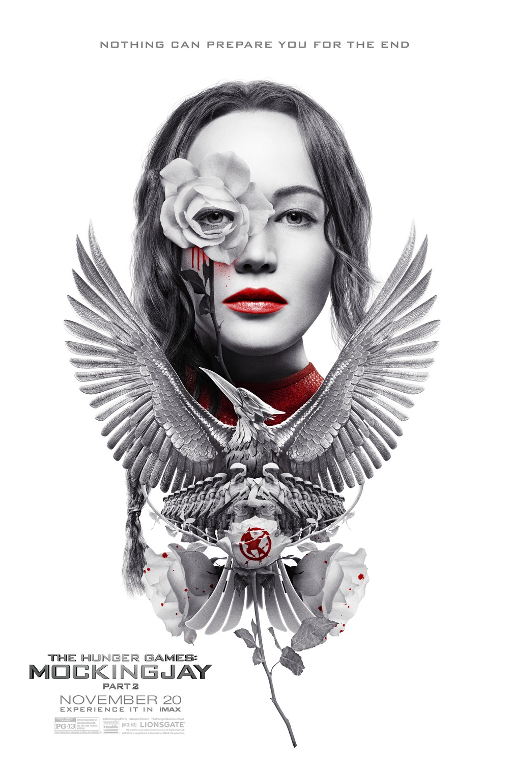 "Picture from www.wire.com | The official poster for ""Mockingjay Part 2"" in IMAX"