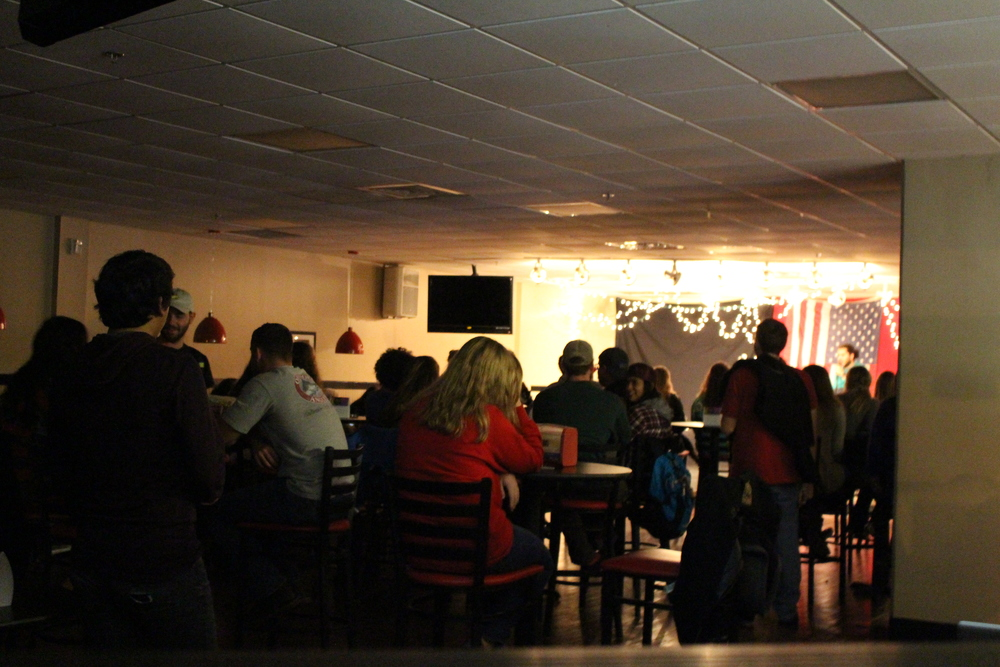 Activities Staff hosts a STUDio Coffeehouse on Wednesday night before exams begin.