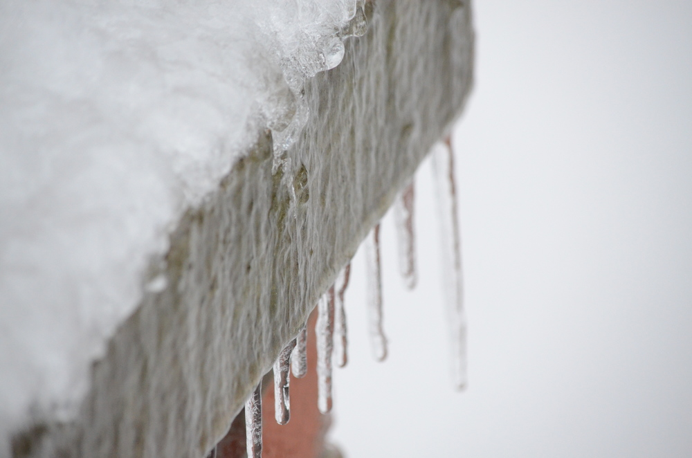 Icicles were dripping everywhere on campus.    Photo by: Rebecca Meek
