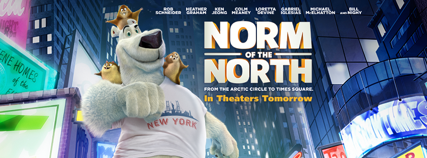 Photo courtesy of official  Norm of the North  Facebook page.