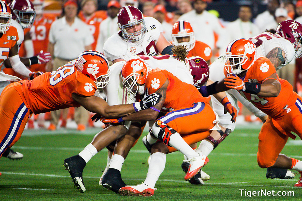 The Clemson Tigers went up against the Alabama Crimson Tide in the 2016 National Championship.Photo by Travis Blanks from TigerNet.com