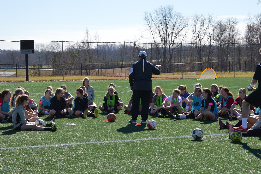 Head coach for the NGU women's soccer team, Andy Robinson, gave students some insight on what they would be doing during the camp on Saturday.