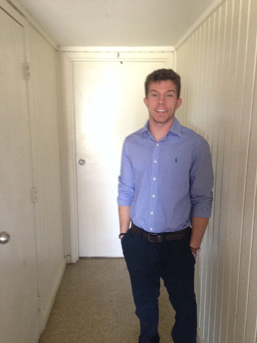 NGU senior accounting major, Daniel Golden.