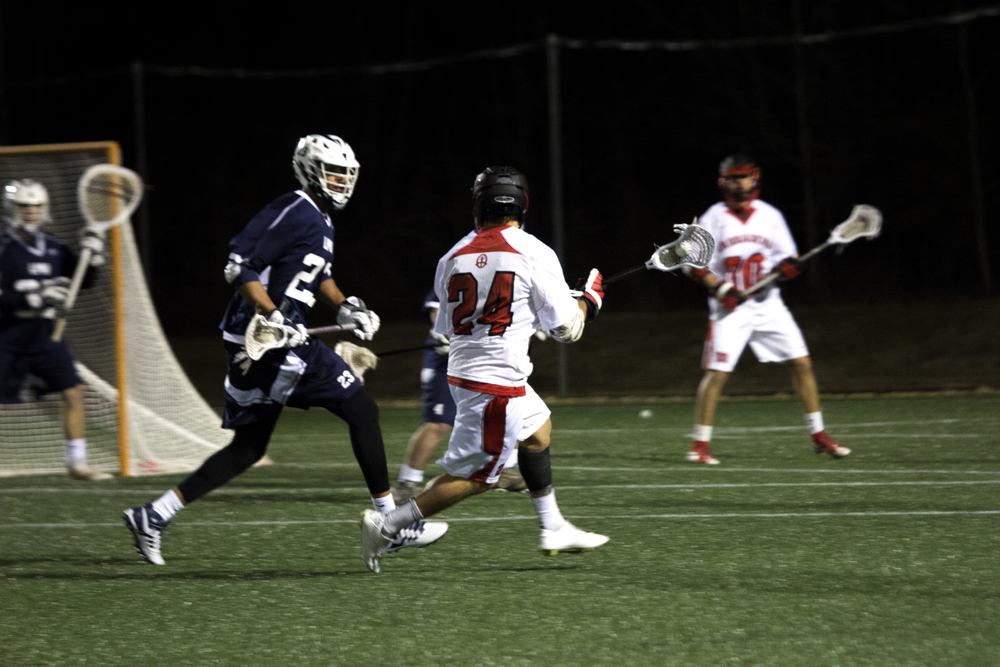 Sean Lemay switches field side with a pass to Ethan Landreth.