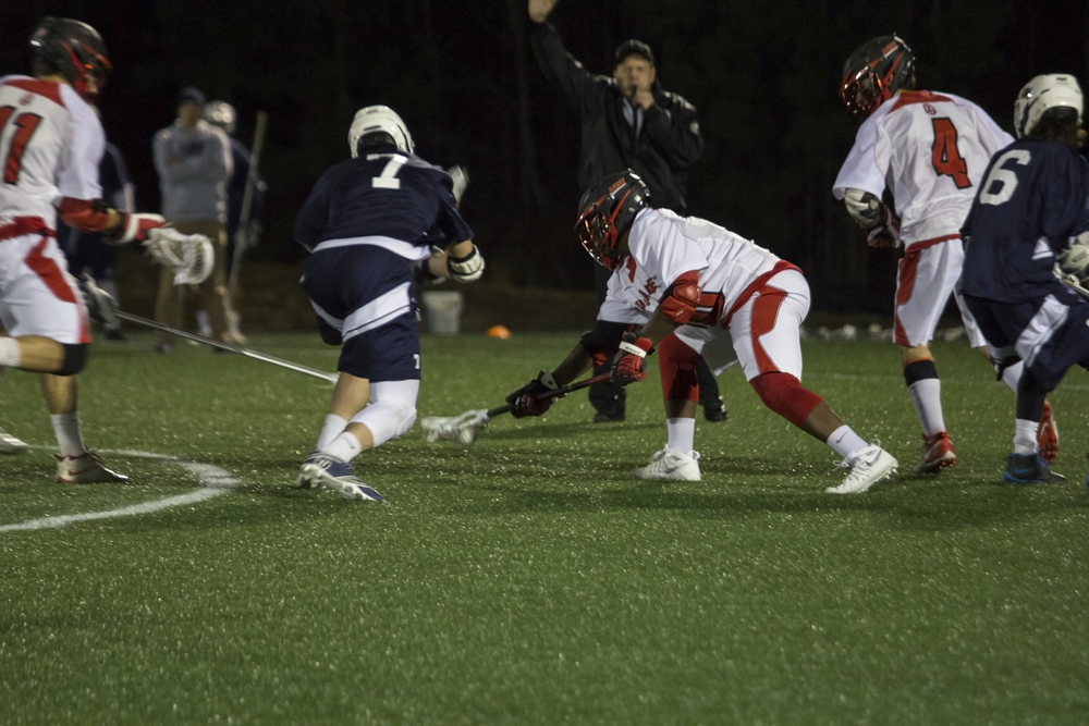 Jalen Bell gains possession of the ball during the opening drive.