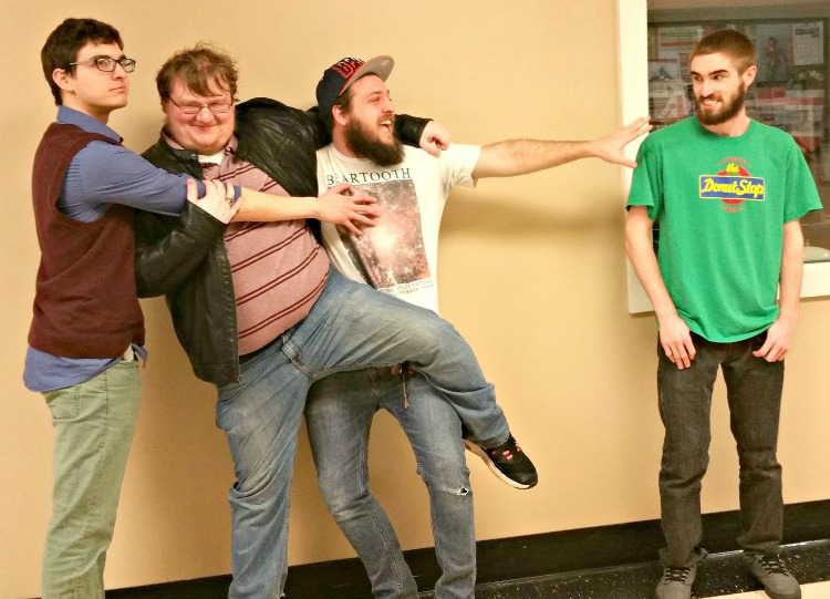 Gamers of the Round Table officers: (right-to-left) Samuel Maycock, Mitchell McDaniel, Robzy Bolin and Michael Miller.  Photo Courtesy of Shelby Snigar.