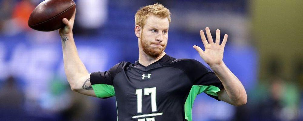 North Dakota State quarterback Carson Wentz. CREDIT:  Darron Cummings/AP Photo