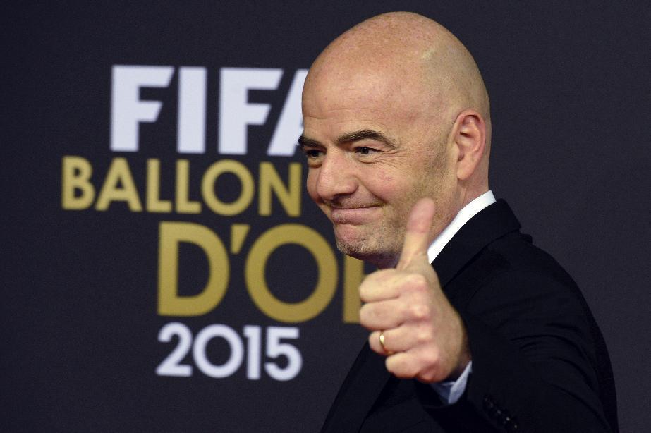 Newly elected FIFA president, Gianni Infantino. CREDIT: Walter Bieri/Keystone via AP, File