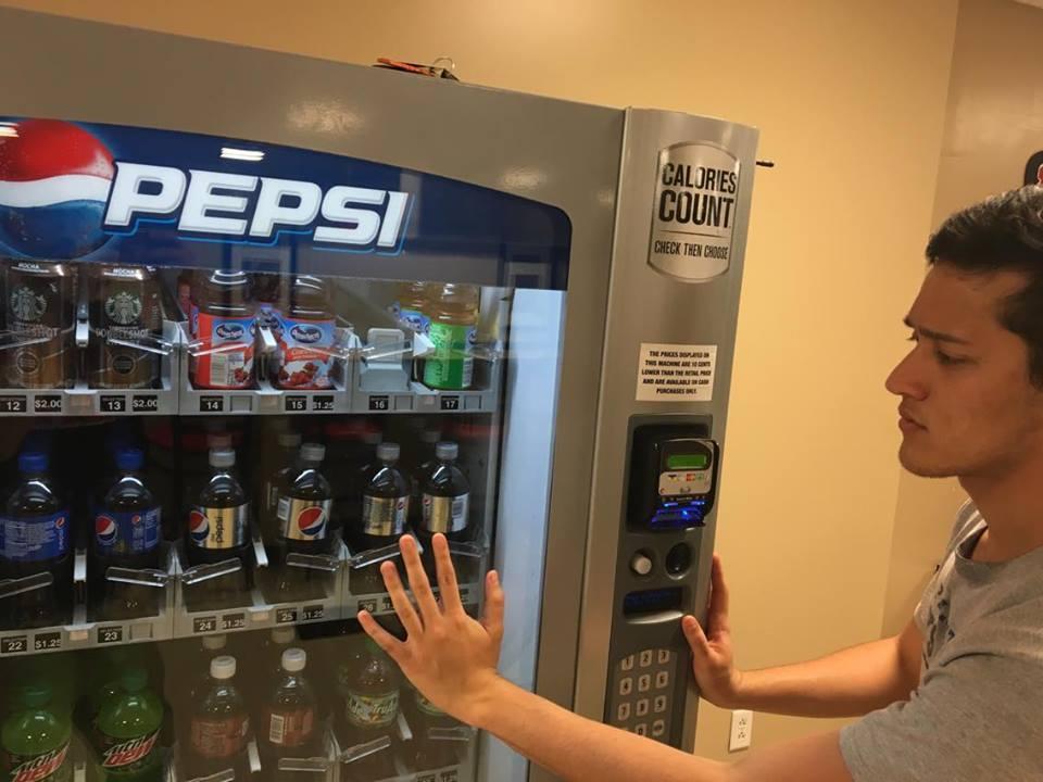 Justin Leuthiphonh gives up drinking soda.