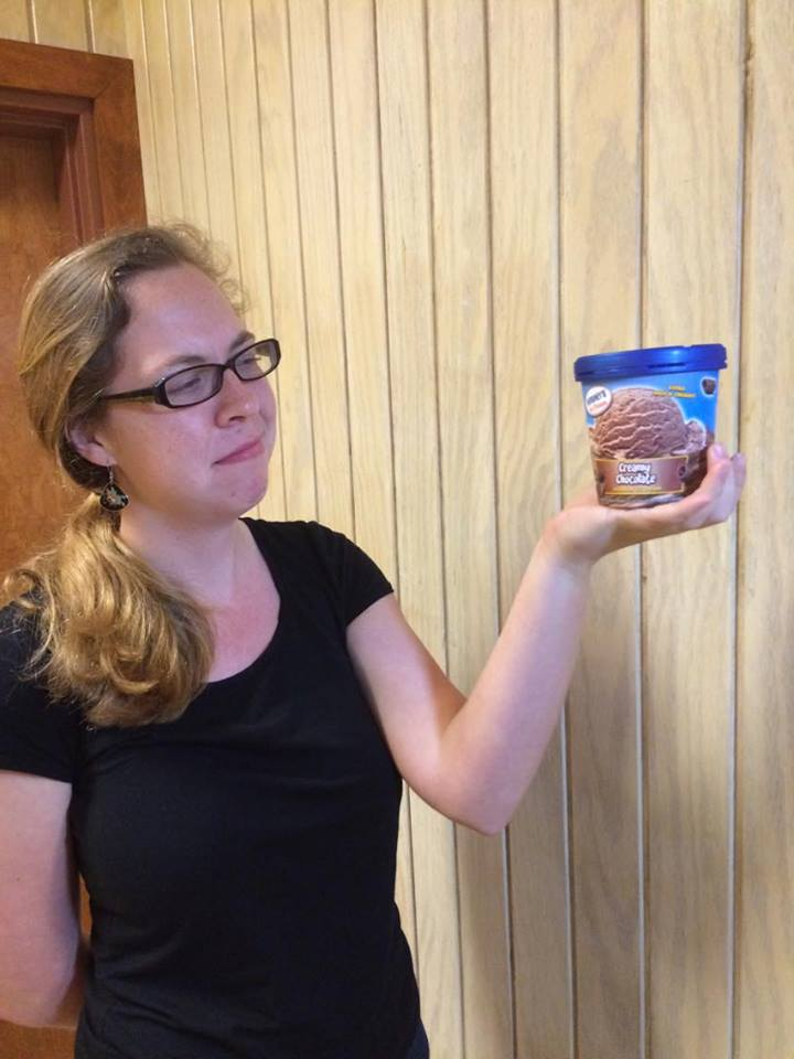 Emily Gissendanner gives up eating ice cream.