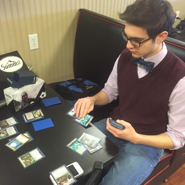Samuel Maycock playing Magic in the stud.