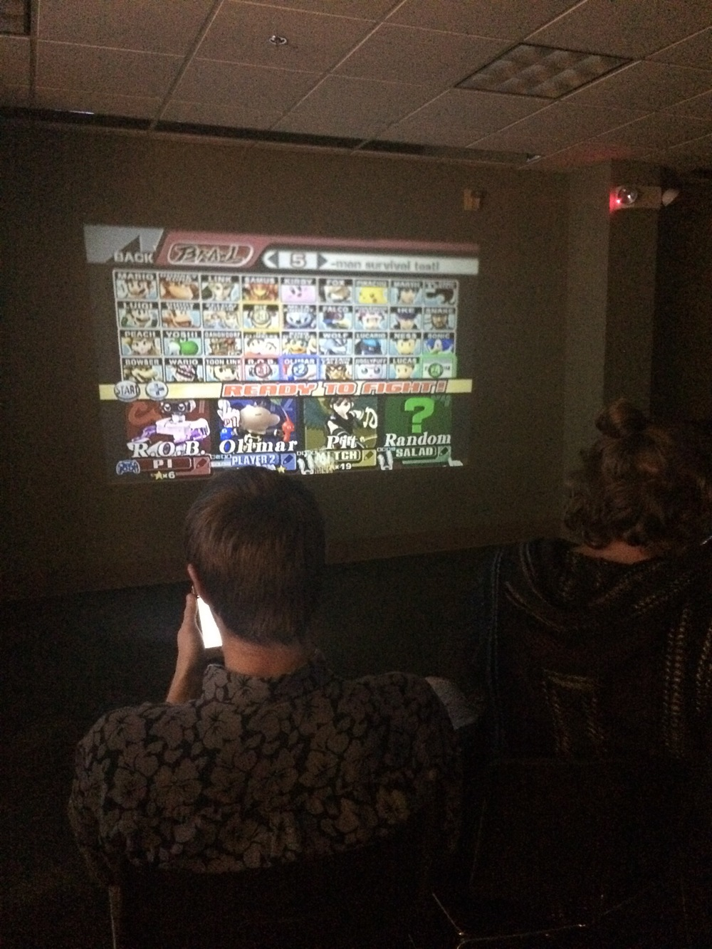 During Spring Fling, North Greenville University hosted a night of video games in the Joyful Sound Conference room.