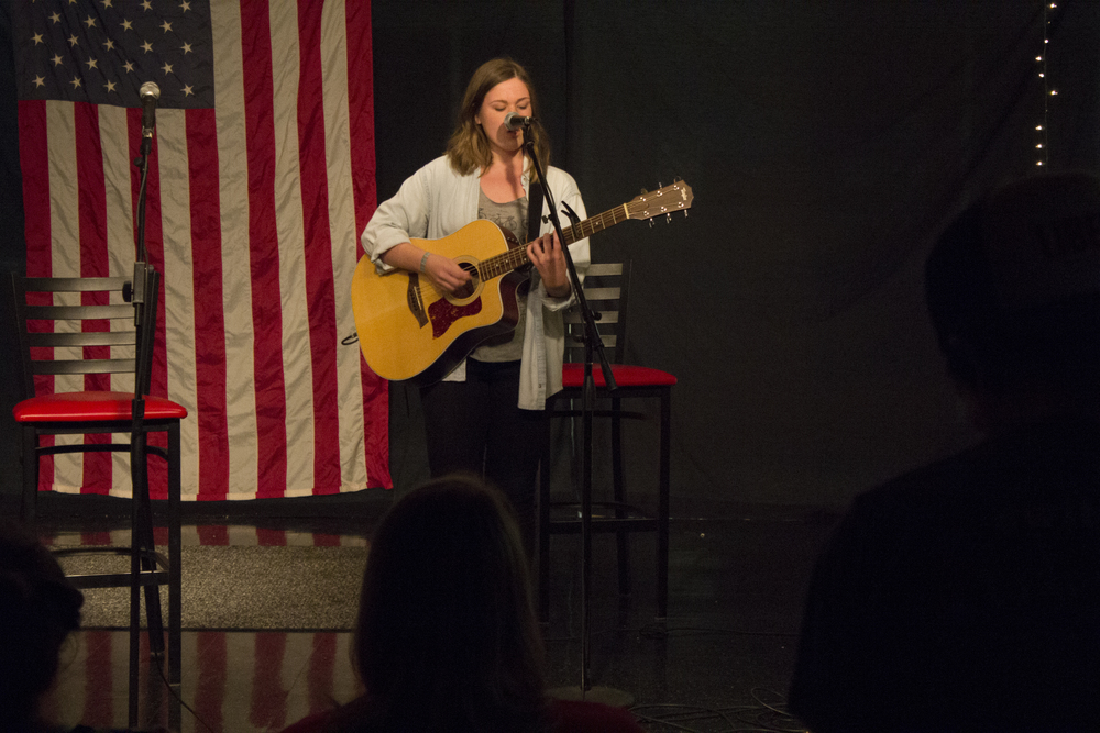 """Morgan McNorrill yet again enchants the audience with her performance of """"Skinny Love."""" Although several individuals in the audience have not heard of this song before they enjoyed the chance to expand their horizons."""