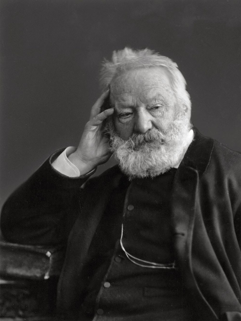 Photo courtesy of Wikimedia Commons.  Victor Hugo author of Les Misérables.