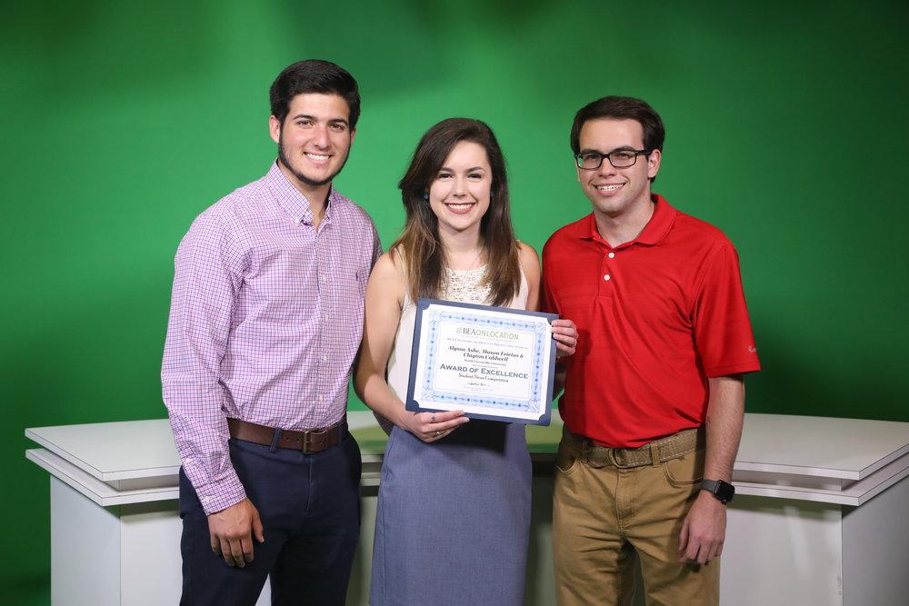 Mason Freitas,Alyssa Ashe and Clayton Caldwell