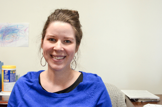 Anna Anderson, Business Office Receptionist: We usually have a big dinner and watch the game at my brother's house. We mostly watch the game for the commercials.
