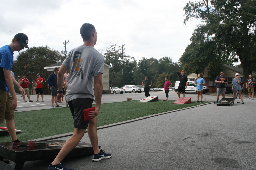 NGU kicked off 2018's cornhole tournament in preparation of homecoming.