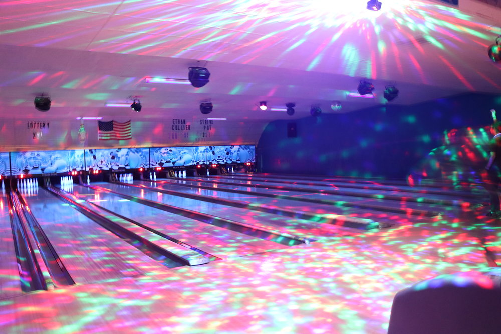 The lights went wild closer to midnight as bowling came to a close.