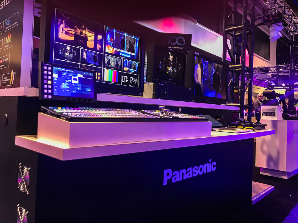 Panasonic is another company that sells different types of media products. Here they displayed one of their many switcher boards for broadcasting.