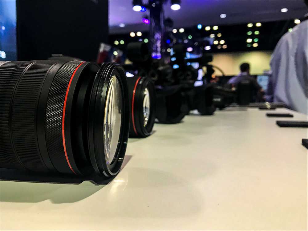 Not only did Canon show off some of their best recording cameras, they also brought two of their newest cameras to have photographers try them out.