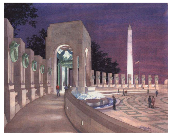NATIONAL WWII MEMORIAL     Freidrich St. Florian, Architect