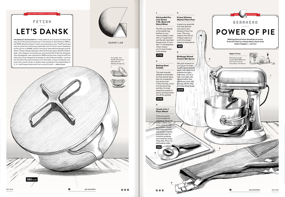 KITCHEN GADGETS  Wired, November 2015