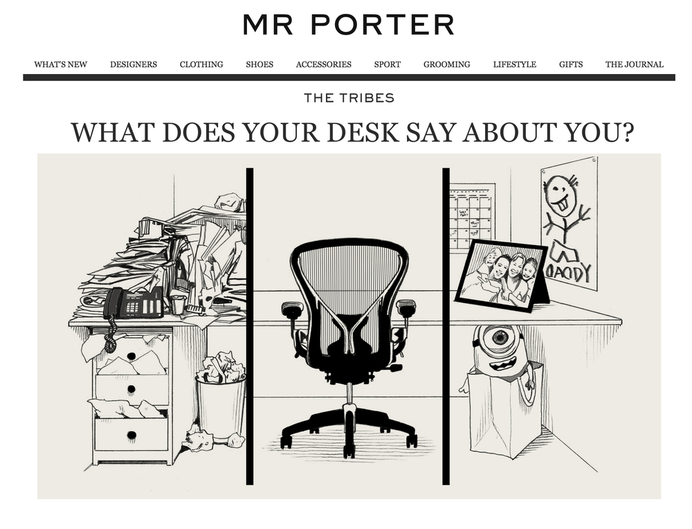 WHAT DOES YOUR DESK SAY ABOUT YOU?  Mr. Porter September, 2015