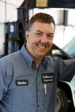 Gordon is one of our ASE mechanics.   Callaway's Automotive phone number is (817) 485-8189