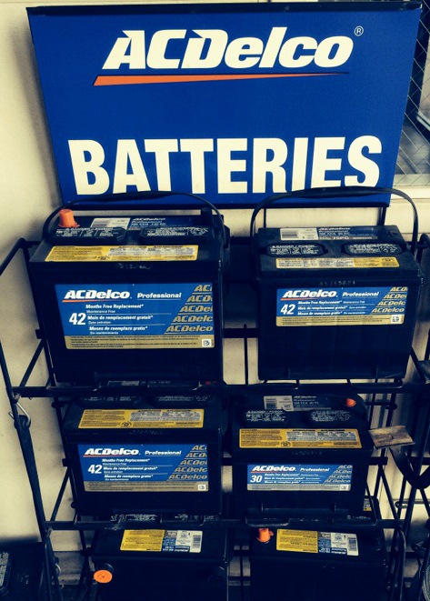 A car battery is essential equipment. We offer AC Delco batteries which are a high quality replacement for most vehicles. Heat is the number one reason battery life suffers. We have battery testing equipment to help evaluate the condition of your car battery.