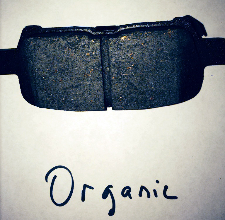 This type of organic brake pad is sometimes found in older vehicles, and either a semi-metallic or ceramic brake pad will provide upgraded performance, generally.