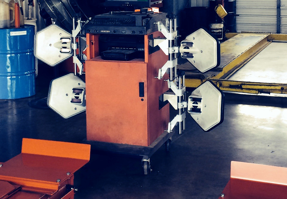 Front wheel alignment is an art and a science.  It starts with knowledge of trained mechanics and proper diagnostic and correct equipment, like this Hunter 811 Alignment Machine.