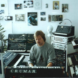 Peter Mergener in good company with 2 MS-20s, 2 MS-50s, an Emulator II, what looks to be a Crumar Performer, a Korg vocoder, and other odds and ends.