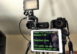 The iPad makes a nice teleprompter with the right app.