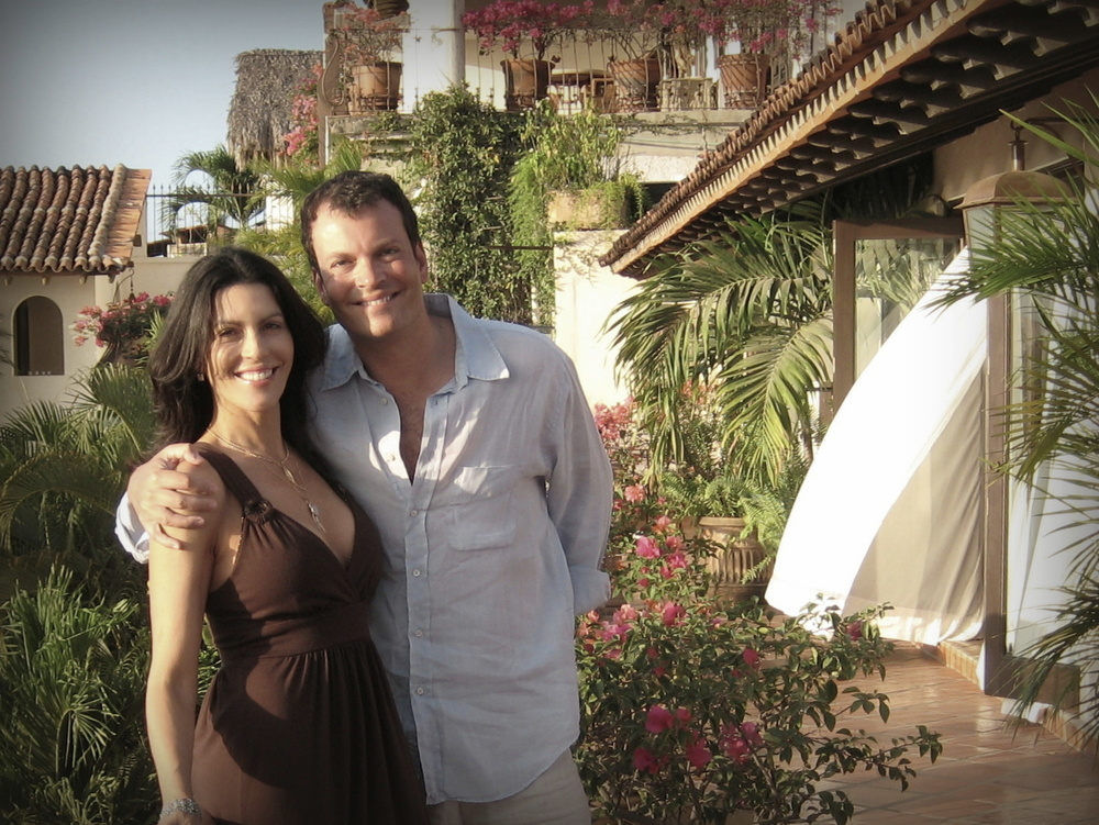 Alina and Bernardo de Albergaria at Hacienda San Angel* in Puerto Vallarta, Mexico