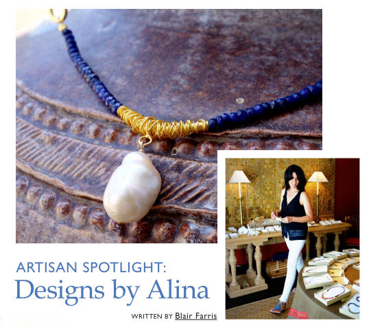 The impossibly chic online glossy, Peachy the Magazine, just featured an article on Designs by Alina jewelry. I had the pleasure of meeting Blair Farris, the force behind the publication and renaissance woman of sorts, in our Santa Barbara home earlier this summer, where we discussed her wonderful magazine, her landscape design background, Designs by Alina, and our home, which is also featured in this issue on page 20. I am excited about this beautiful magazine!  Go ahead, take a break, kick up your feet and indulge in all the bountiful pages of Peachy which may unfold here, you will love it!