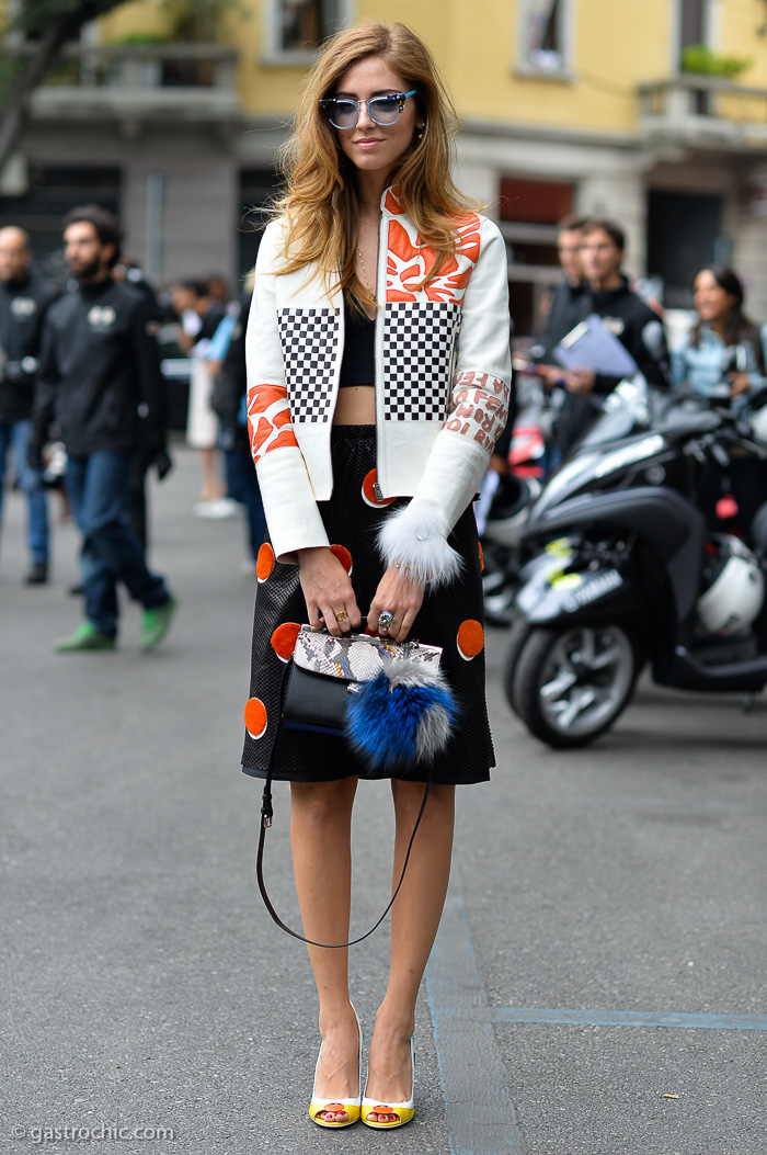 The always stylish Chiara Ferragni, photo via  gastrochic.com