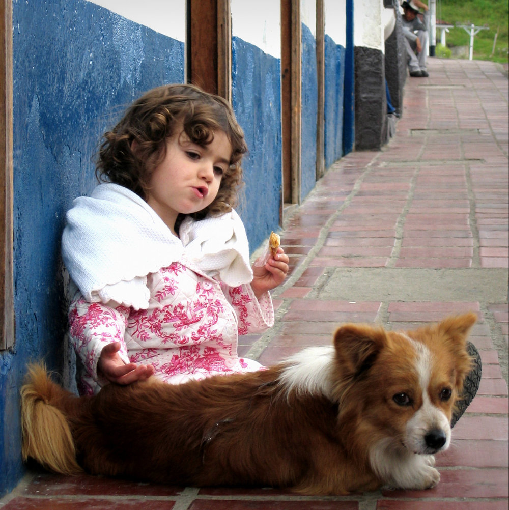 Our daughter, age two, in the Venezuelan Andes