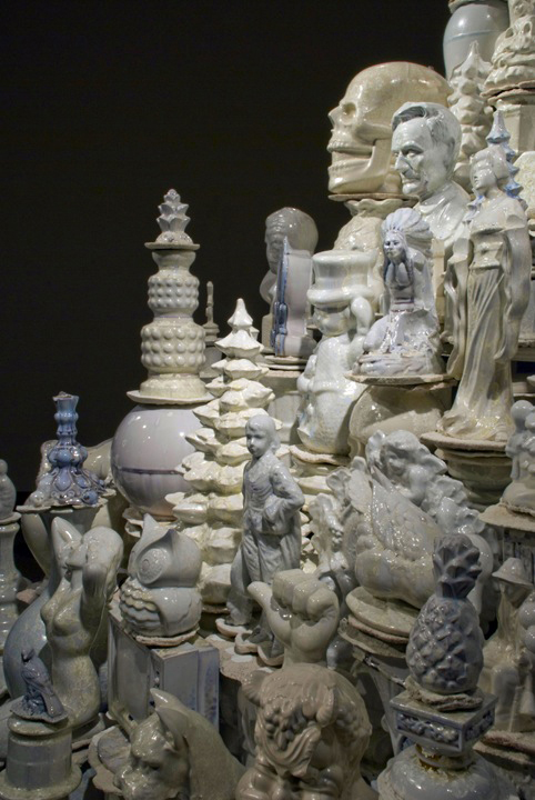 A Theory of Everything: White Stupa, 2007 (detail)