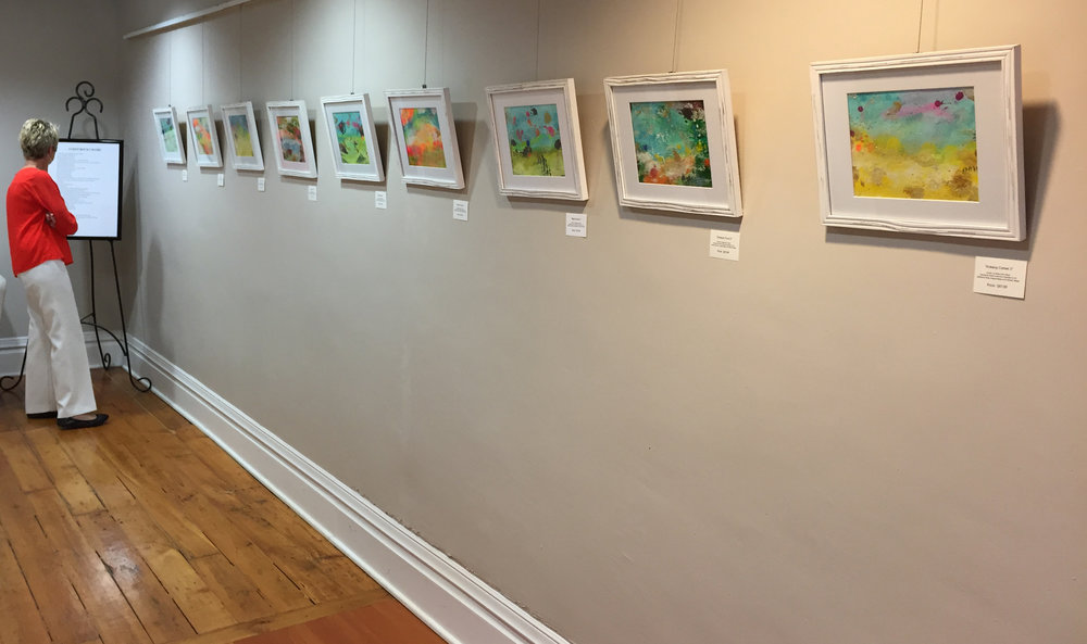 Abstract Iowa landscapes on display at  Warren Cultural Center in Greenfield, Iowa