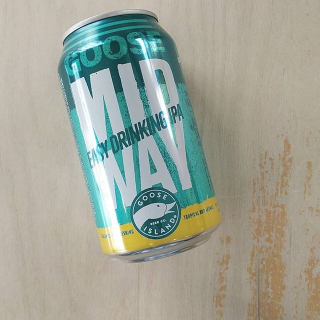 Goose Island Midway easy drinking IPA ~ come grab a 6pk to enjoy the beautiful weather this weekend in Philly. #craftbeer #gooseisland #goeagles #superbowlchamps #still