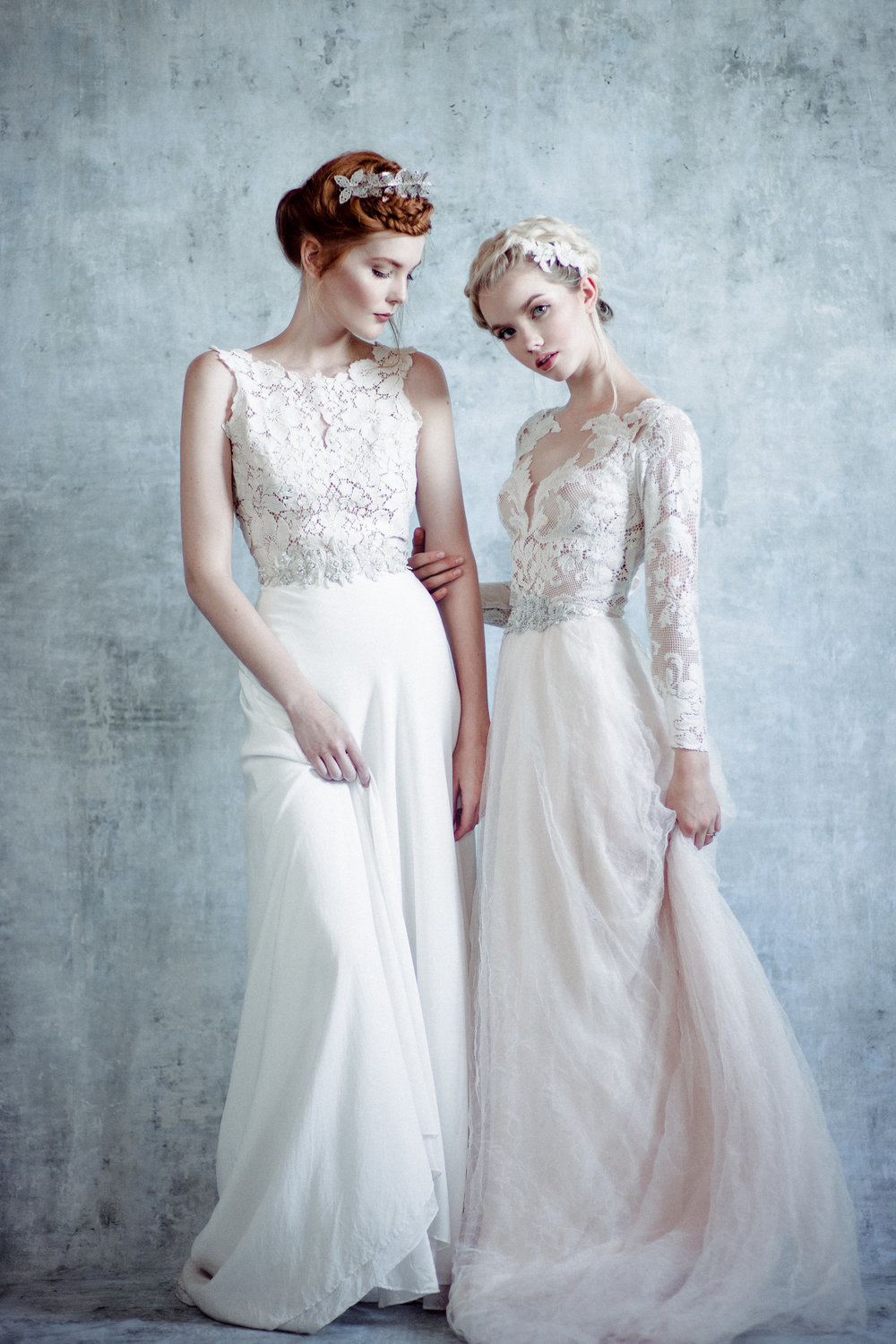 Linyage - Made with love in the Midwest, each top and bodysuit is designed from vintage lace and paired with ethereal silk skirts for a bridal look that is truly one of a kind and offers an heirloom quality to their pieces. Collection begins at $950.