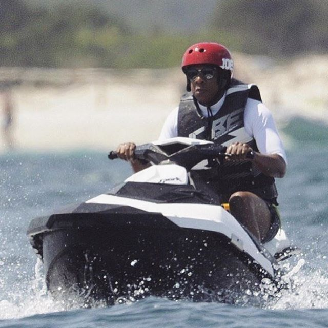 Have a lot of fun new work coming down the pipeline that I can't post yet.. but I'm missing the validation of precious likes. So in the mean time I'll just leave this photo of #jayz on a jet ski here for you today. #happysaturday