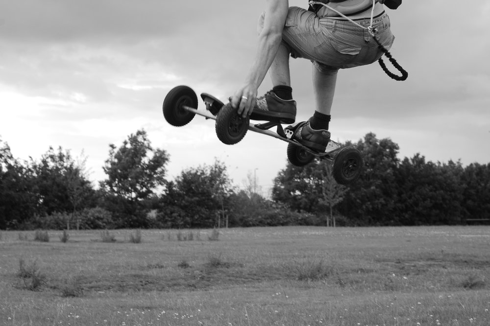 Tail Grab - Kiteboarder