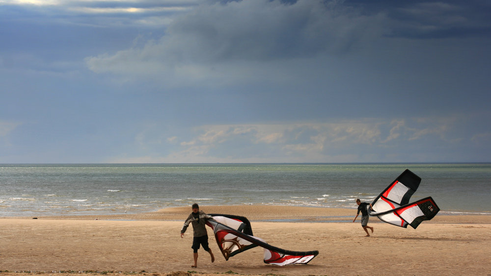 End of Day - Kitesurfers