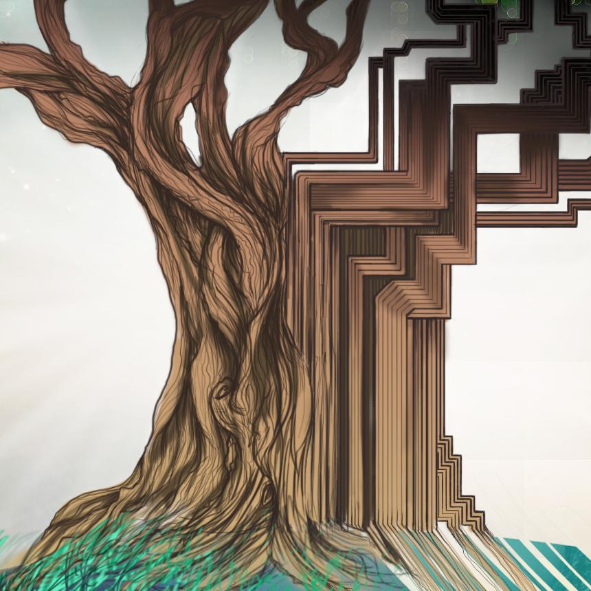 Maha Quest Album Art Design - Trunk Detail