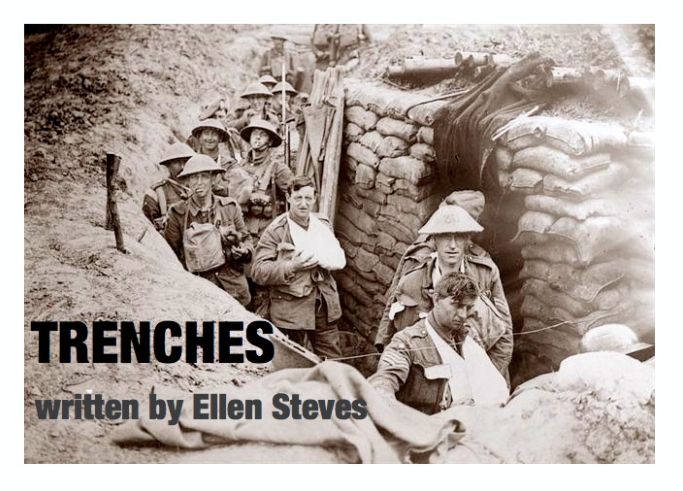 TRENCHES - The second production of TRENCHES was performed at the Manhattan Repertory Theater in Midtown in 2014.This was boom!'s first production in NYC.Trenches is the story of seven men that are tormented by war, love, and their own sense of right and wrong.