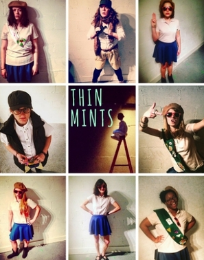 THIN MINTS - THIN MINTS is the story of a troop of girl scouts who go to a secluded cabin for a week to have a very important election. The girls use terror, torture, and trauma to claw their way to the top, but who is really pulling the strings?THIN MINTS is based on the Shakespeare five-act history structure. Looking back on it, it is also a reflection of the absurdity of the 2016 election.THIN MINTS also scores 100/100 on the Bechdel test. There is not a single mention of a man; no brothers, fathers, lovers, etc. Ellen felt she needed to go one step further, and remove romance all together. Who are women when they aren't in love? What she was left with is a story about greed, power, addiction, torture, and ruthlessness.THIN MINTS was workshopped at Columbia University.